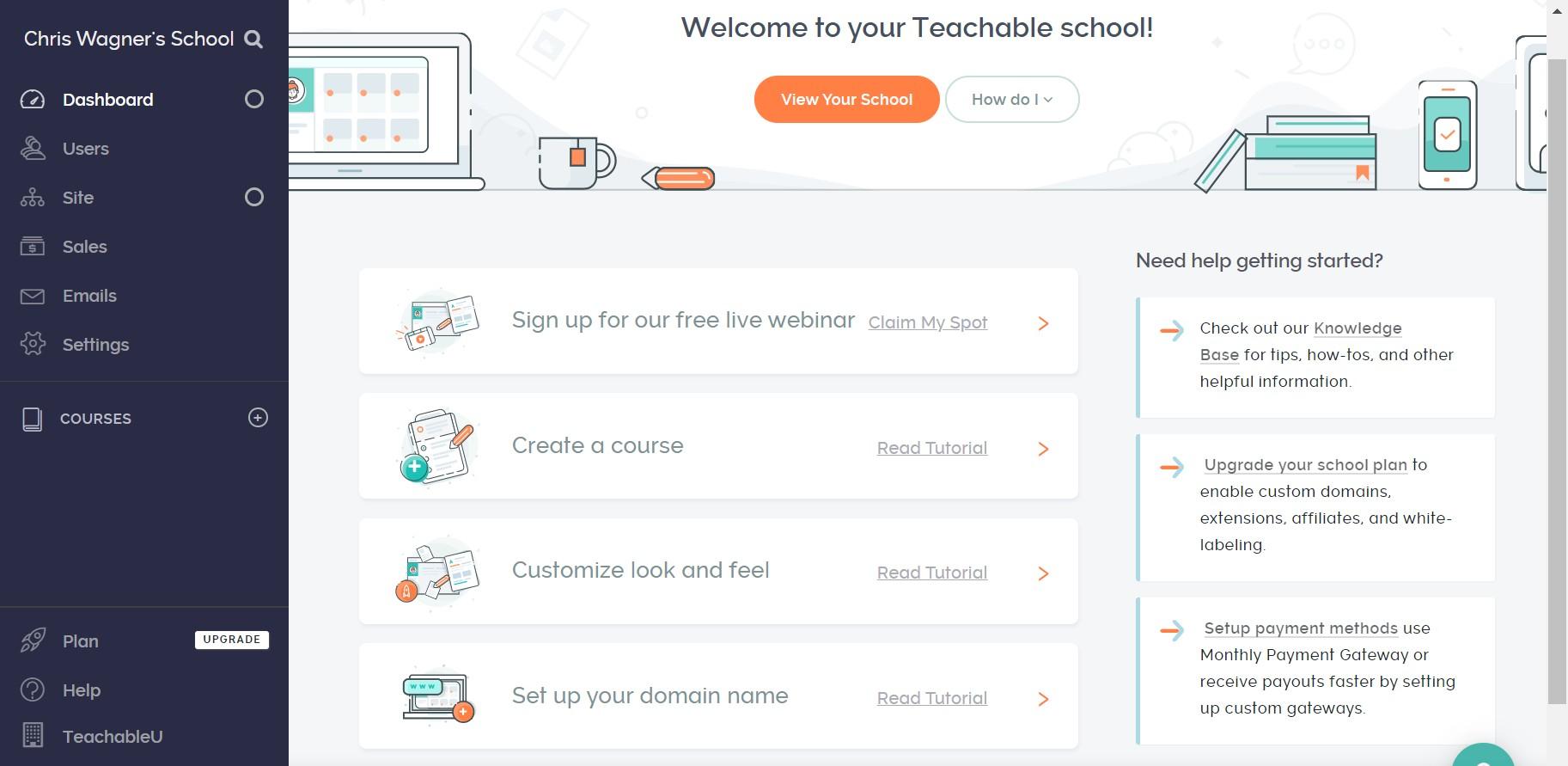teachable ease dashboard 1