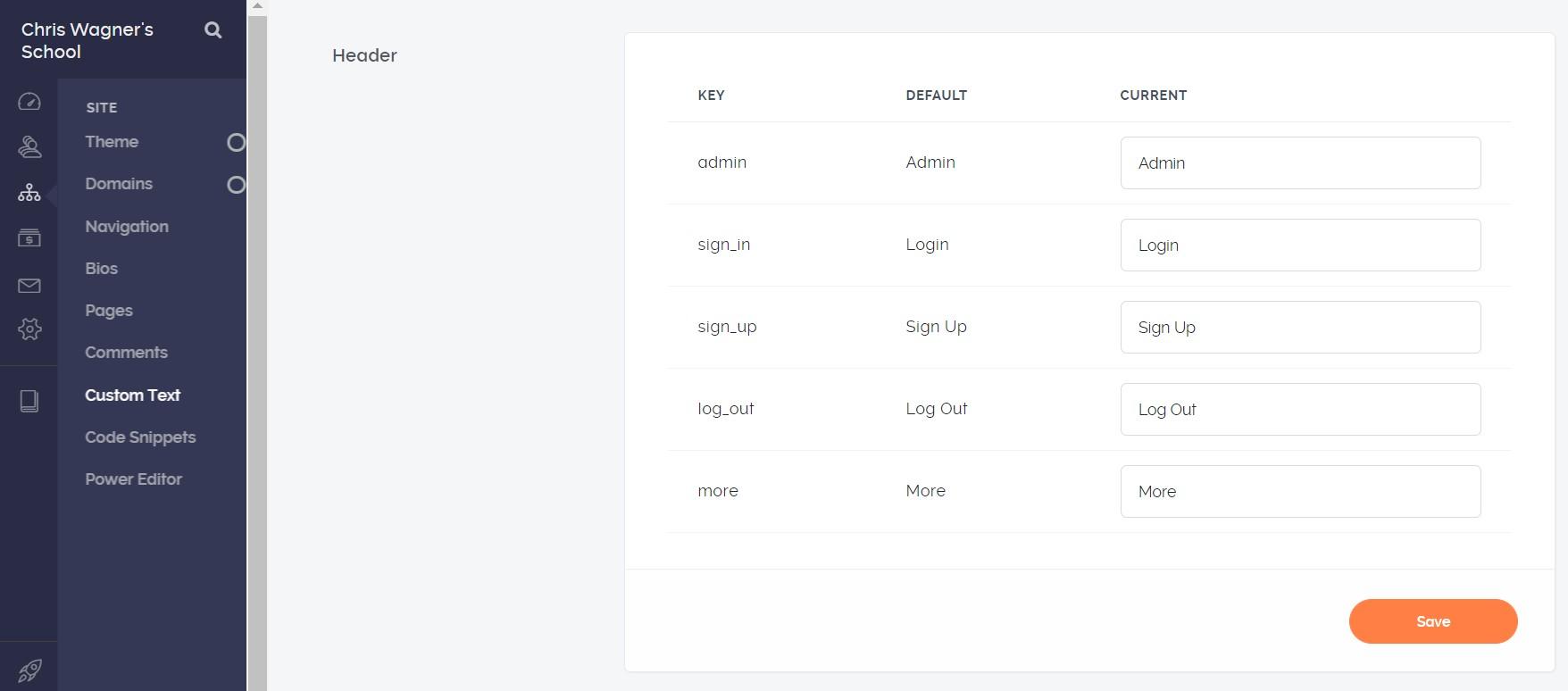 teachable features custom text 1
