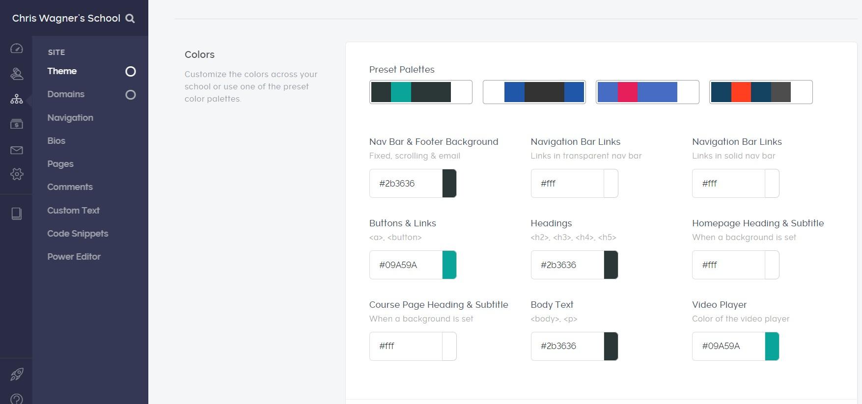 teachable features customization 1