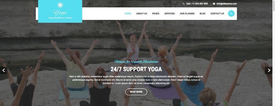 Yoga Spa WordPress Theme