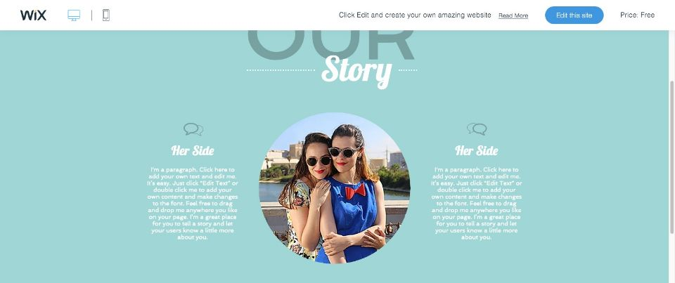 Wedding Site Website Template WIX