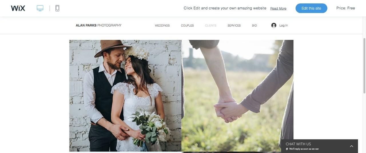 Wix Wedding Tempelate